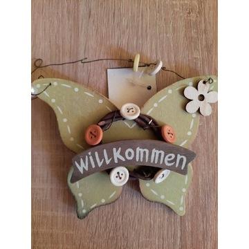 Ozdoba ozdoby drewniane na drzwi Zawieszka motylek