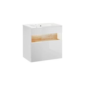 BAHAMA WHITE 820 - Szafka p/umywalkę 60 + umywalka
