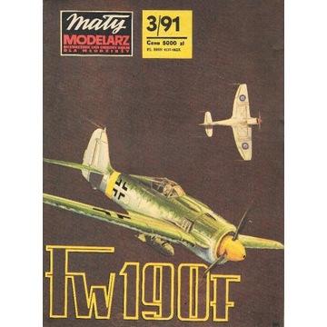 Mały Modelarz 3 1991 Fw-190 samolot model 1:33