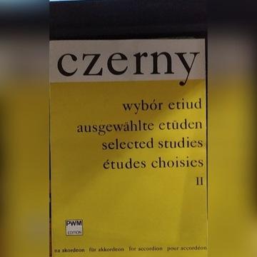 Nuty na akordeon Czerny wybór etiud II W.Kulpowicz