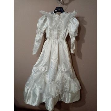 Suknia sukienka komunijna vintage retro lata 90