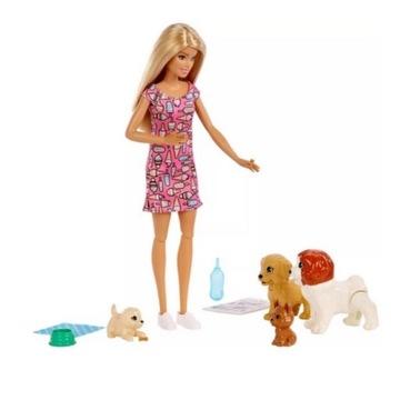 Barbie Lalka OPIEKUNKA PIESKÓW + PIESKI FXH08