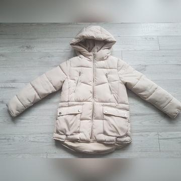 Kurtka zimowa beżowa Zara r.140
