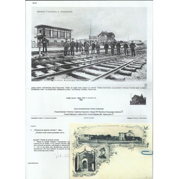 Koperty ze znaczkami i stemplami kolekcja