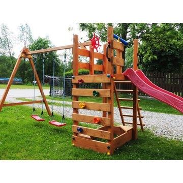 Drewniany Plac Zabaw Domek dla Dzieci Ślizg