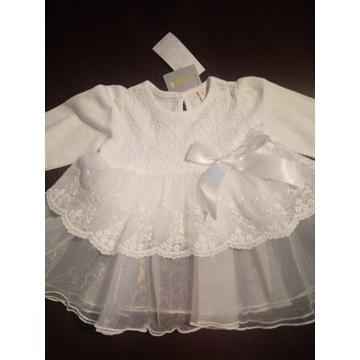 Koronkowa sukienka wizytowa święta chrzest