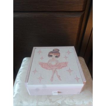 Toaletka drewniana baletnica organizer szkatułka