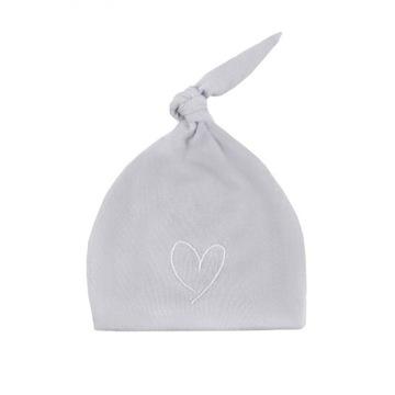 Effiki czapeczka szara z białym sercem