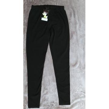 Klasyczne czarne bawełniane legginsy roz. M/L