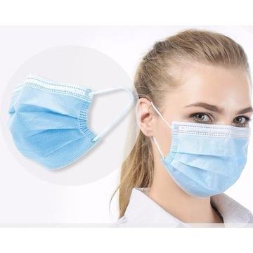 Maseczka maska chirurgiczna ochronna 3 w 10 sztuk