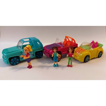 Polly Pocket - lalki z samochodami 3 sztuki