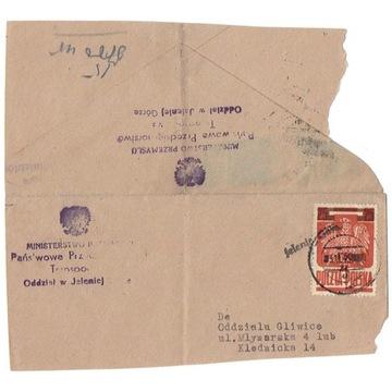 Jelenia Góra - fragment koperty 1945