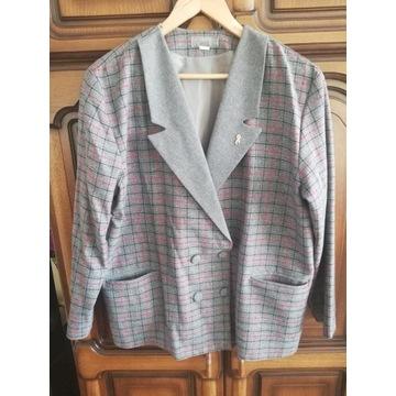Komplecik: elegancki żakiet + spódnica, roz. XXXL