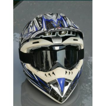 Kask motocrossowy Airoh + goggle rozm.59-60