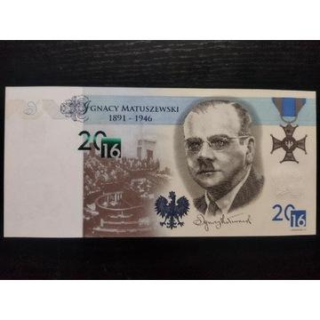 Banknot testowy kolekcjonerski Pwpw Matuszewski