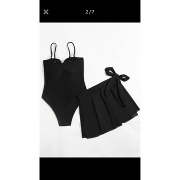 Strój czarny rozmiar M -L + spódniczka