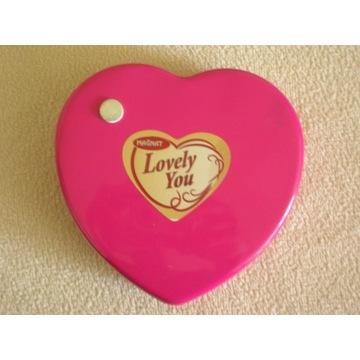 metalowa puszka pudełko różowe serce Lovely You