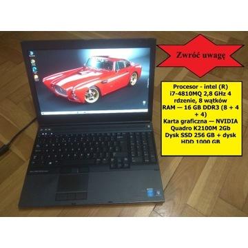 Dell M4800/i7 2,8 GHz/16Gb/256 SSD/1TB HDD/2 Gb