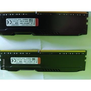 HyperX Fury, DDR4, 8 GB,2400MHz, CL15  2x4gb