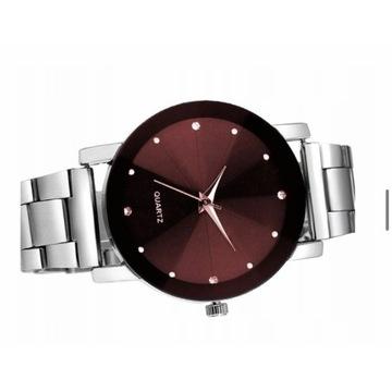 Damski zegarek srebrny. Licytacja od 1 zł