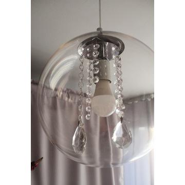Lampa sufitowa,żyrandol, glamour, kula, kryształki