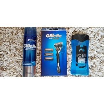 Zestaw Gilette Fusion Proglide + Żele ORYGINAŁ