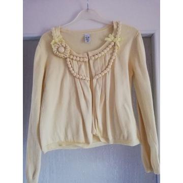 sweterek, żółty, Zara, 140 cm