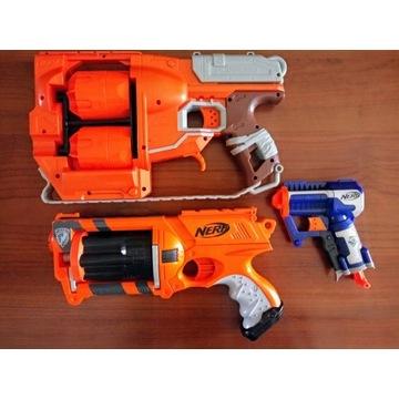 3 Pistolety Nerf