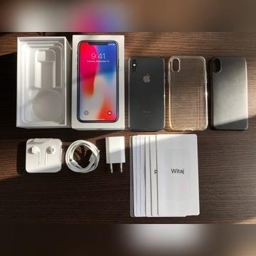 iPhone X 256 GB Space Gray Idealny +Etui