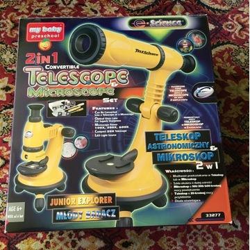 Teleskop astronomiczny/mikroskop 2w1 idealny stan