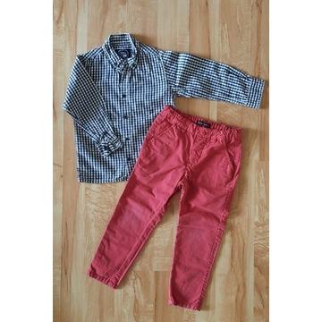 Zestaw komplet koszula cool club 110 spodnie 104