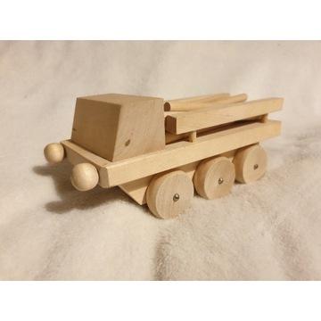 drewniany samochód do przewożenia drewna-  nowy