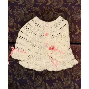 Sweterek dla dziewczynki (6-12 msc-y) - handmade