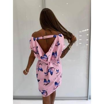 Lola Bianka sukienka woda motylki róż