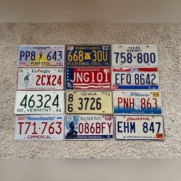 Unikatowe tablice amerykańskie