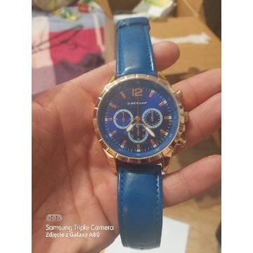 Nowy meski zegarek dunlop zloty duzy