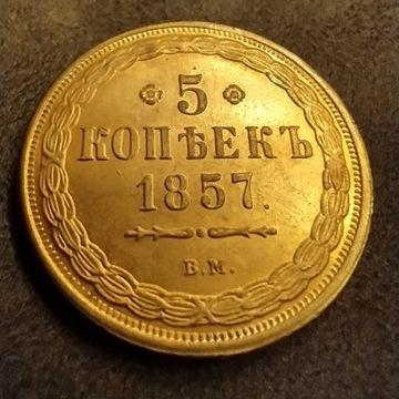 5 Kopiejek 1857r BM stan