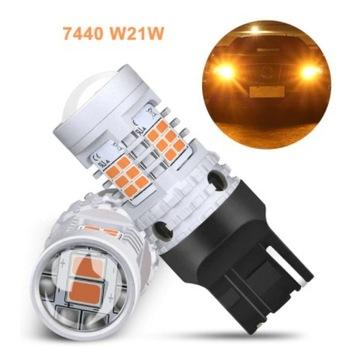 Żarówki LED OXILAM P21W Canbus 2200K bursztynowy