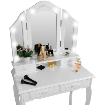 Toaletka Kosmetyczna z Lustrem LED darmowa dostawa