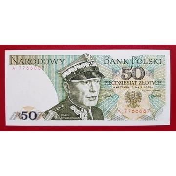 50 złotych 1975 rok Seria A Stan UNC