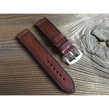 Pasek do zegarka handmade skóra naturalna 22 mm