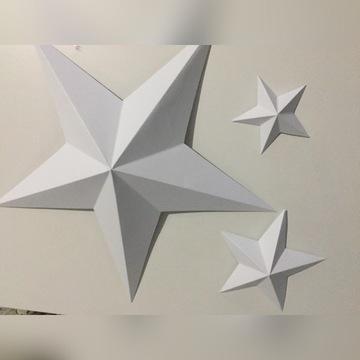 Gwiazdy ozdoba ręcznie robione