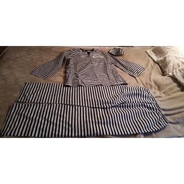 Strój marynarz L - XL bluzka spodnie czapka