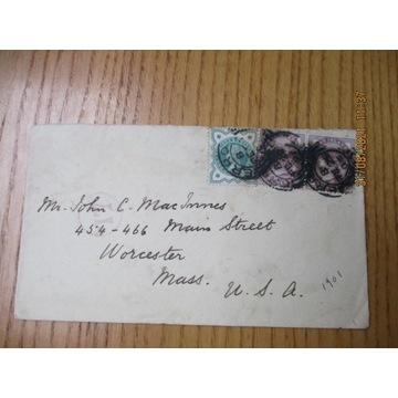 koperta ANGLIA znaczki X3 1901