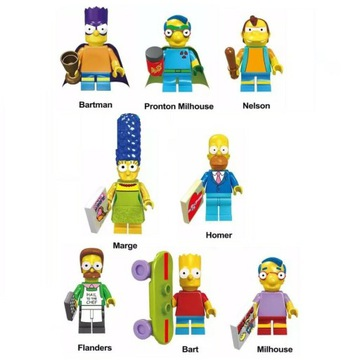 Figurki Simpsonowie The Simpsons 8 szt.