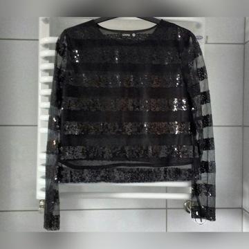 Czarna bluzeczka z cekinami Sinsay M