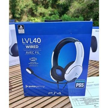 LVL40 Słuchawki PS5 PS4 PC Nowa Gwarancja !!