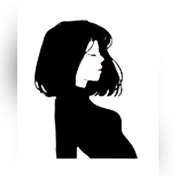 Kobieta fałszywy tatuaż tymczasowy
