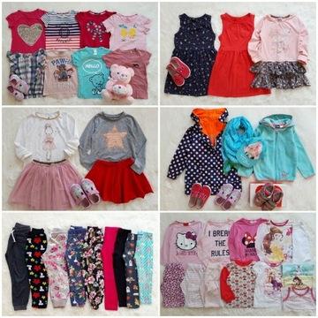 Mega paka 104-110 60 sztuk sukienki koszulki bluzk