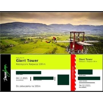 Skok DREAM JUMP z komina Giant Tower 100m